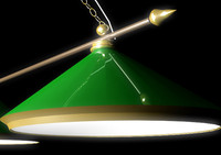 3d billiards lamp model