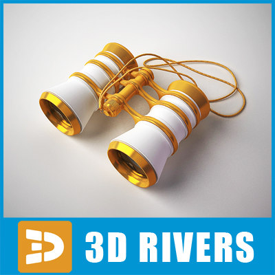 3d retro theater binocular chain model