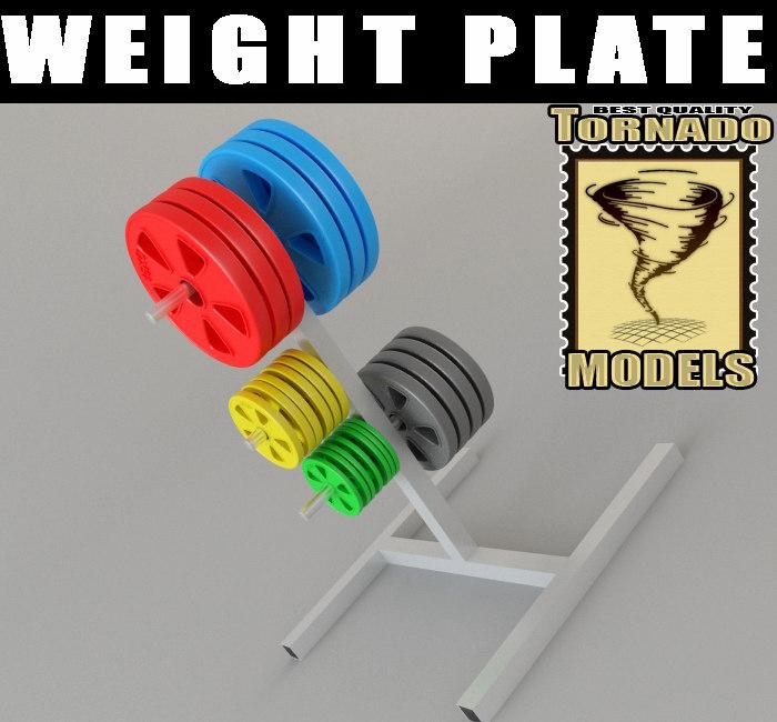 3d weight plate