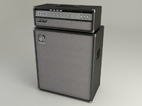 3d model classic bass guitar amp