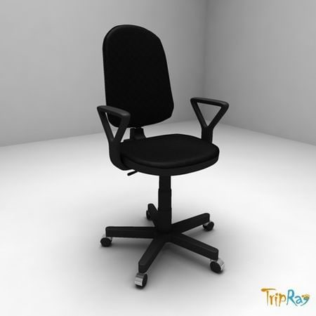 3d model chair armchair office
