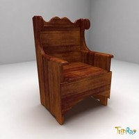 free max mode chair armchair wood