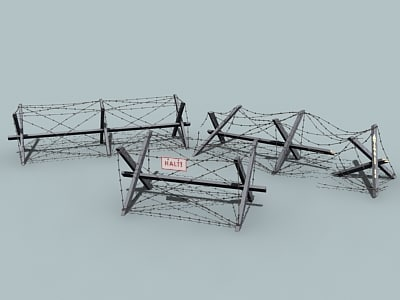 3ds max barbed wire barrier