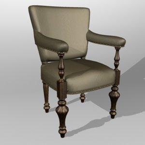 board chair 3d c4d