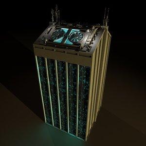 3ds max sci-fi building