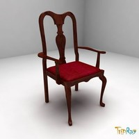 free chair armchair 3d model