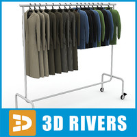 3dsmax metal clothes display rack