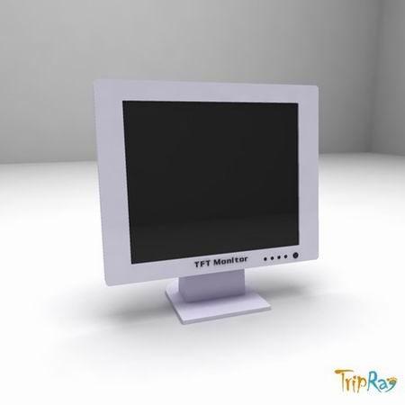 free monitor 3d model