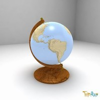 3ds globe decorative