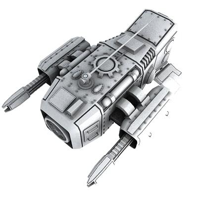 medium sentry drone 3d model