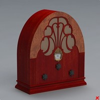 3d radio antique model