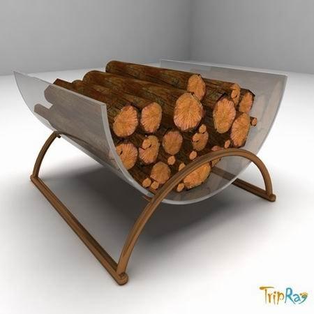 maya fire pile logs