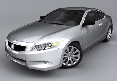 honda accord coupe 3d model