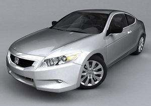 honda accord coupe 3d model