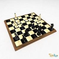chess-board chess-men chess 3ds free