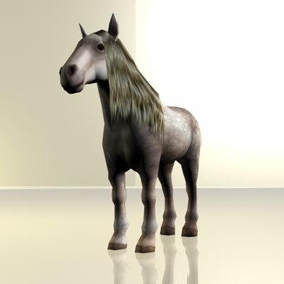 shire horse obj