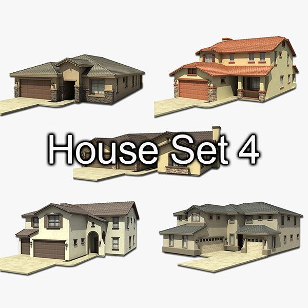 house set 4 3d 3ds
