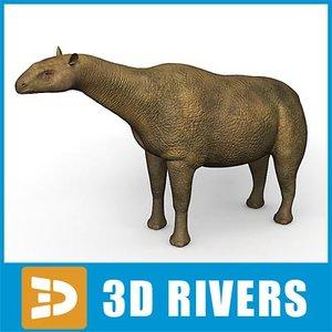 extinct indricotherium 3d model