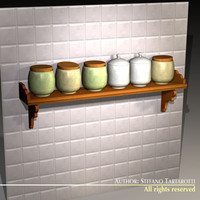 kitchen jar rack 3d obj