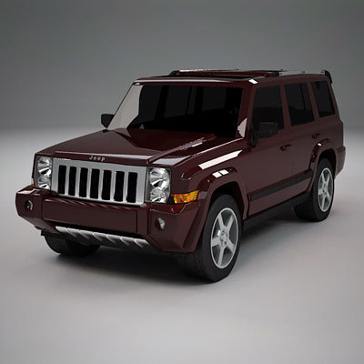 3d model suv vehicle commander