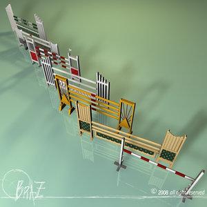 3d obj wood jumps