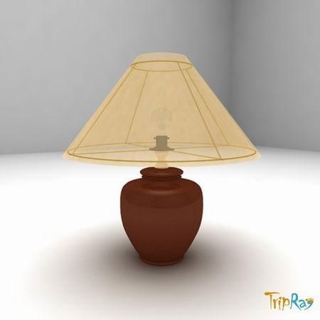 free lamp table 3d model