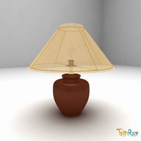 free lamp table 3d model