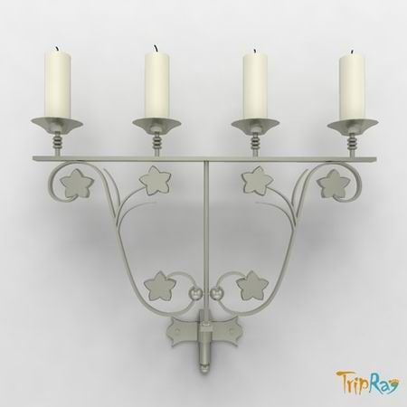 free obj model candlestick candle