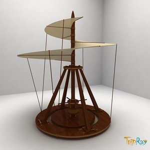 leonardo vinci aerial 3d model