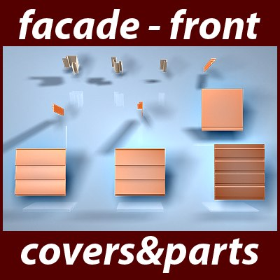 3ds max facade covers parts