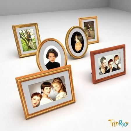photos frames 3d model