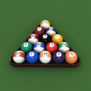 pool balls sports 3d max