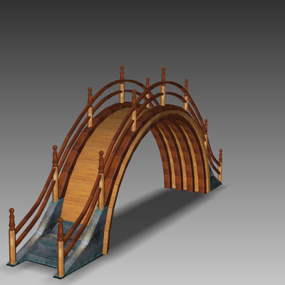 3d model drum bridge