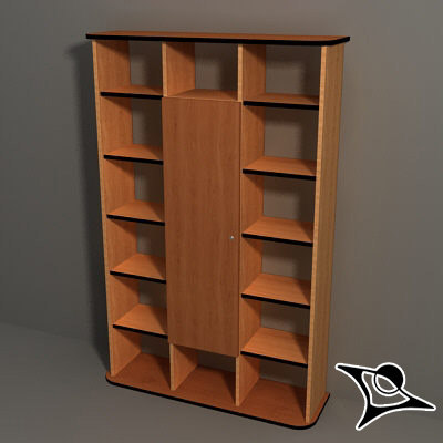 3d model bookcase booksheleves