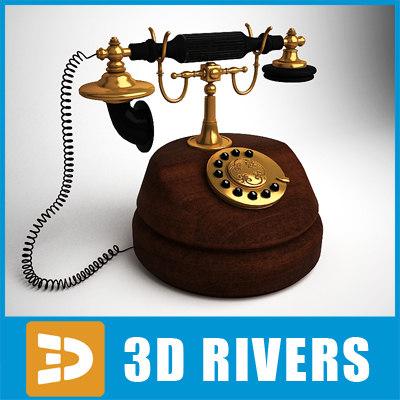 3d 3ds retro telephone