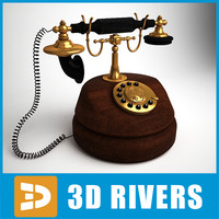 Retro telephone 02 by 3DRivers