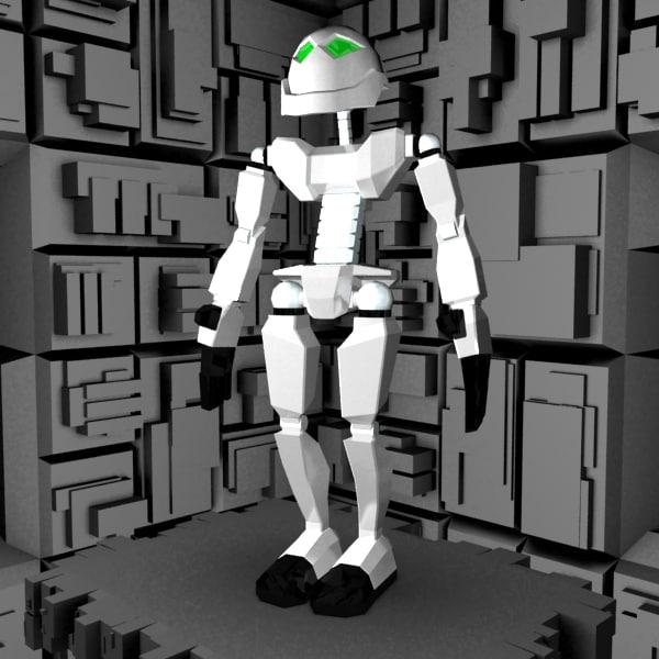 3d friendly robot character