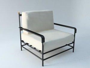 3d chair silla exterior model