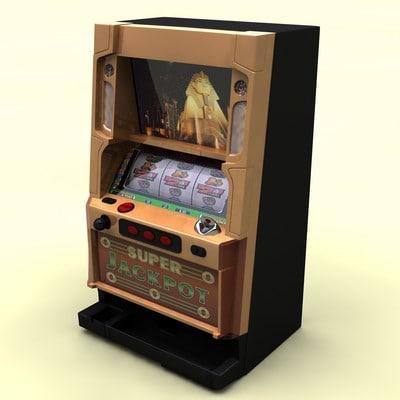 3d slot machine model