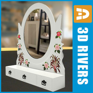 small retro mirror 3d obj