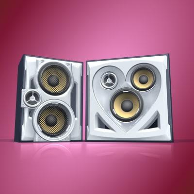 3d model stereo speakers