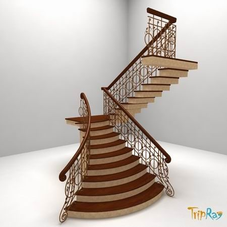 3d staircase stairs model