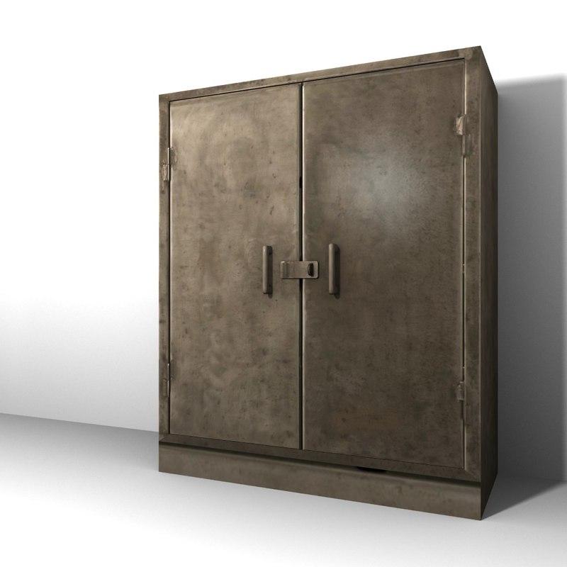 steel cabinet 3d model