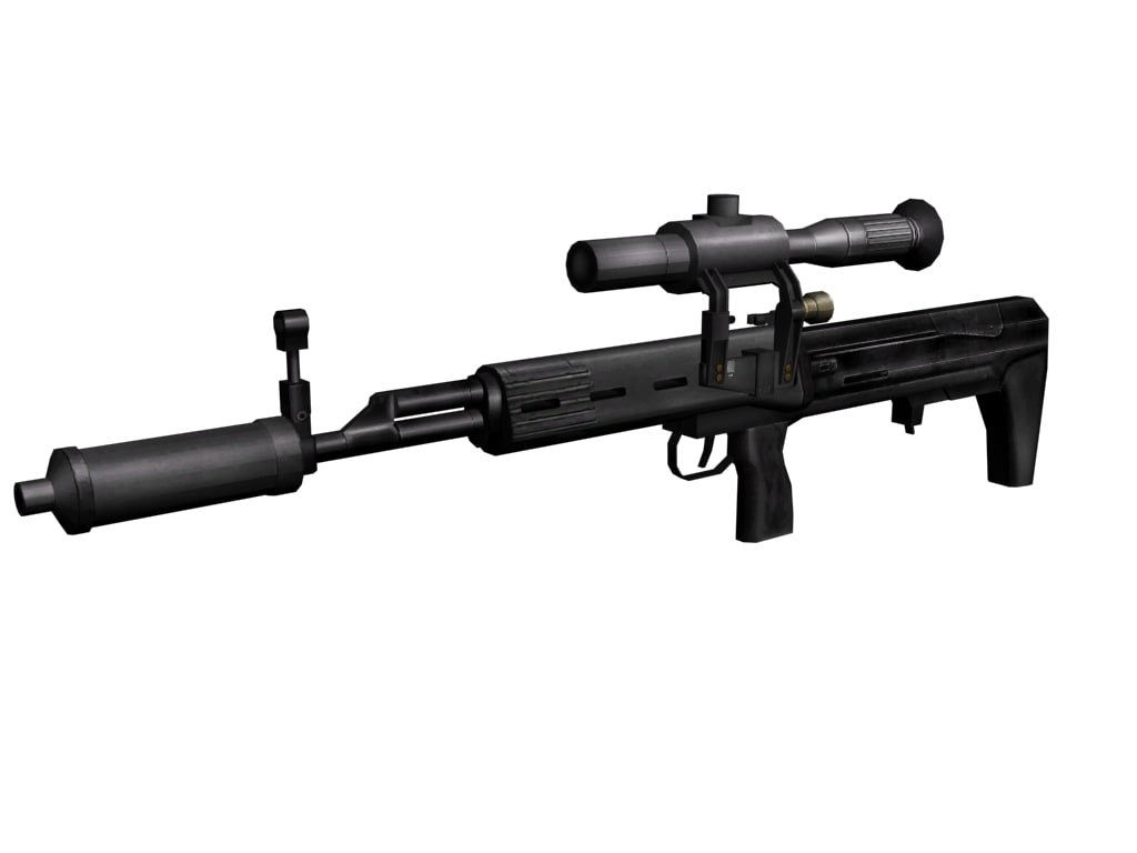 dragunov svu sniper rifle 3d model