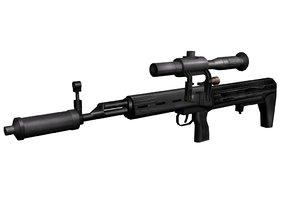 dragunov svu sniper rifle 3d model