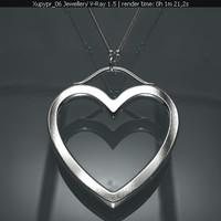 Tiffany Hearts pendant imitation