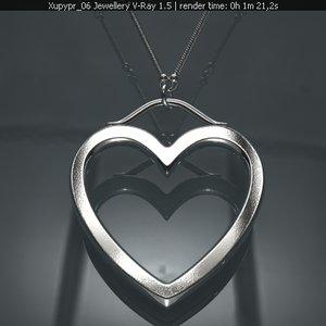 free pendant gold platinum 3d model