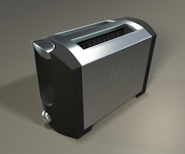 brushed metal toaster obj