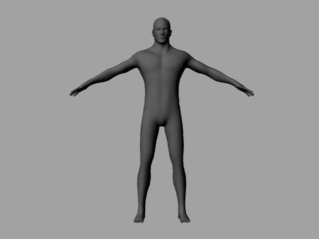 base mesh human male 3d obj