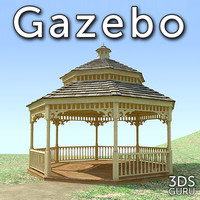 3d gazebo pavillon model